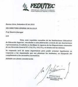 Nota a la Prof. Jáuregui - 02-09-14